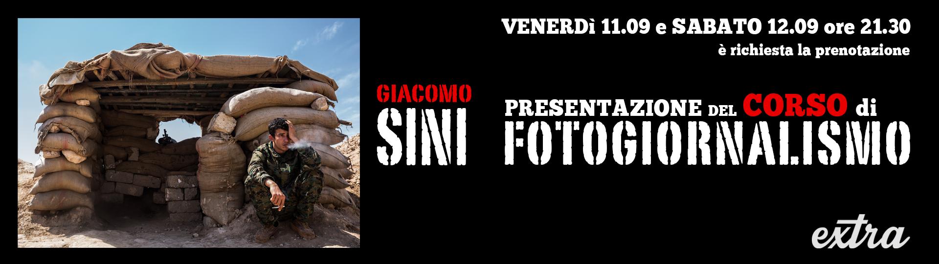 Presentazione Corso di Fotogiornalismo a cura di Giacomo Sini